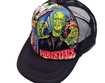 Classic Monsters Trucker Hat-Youth Size