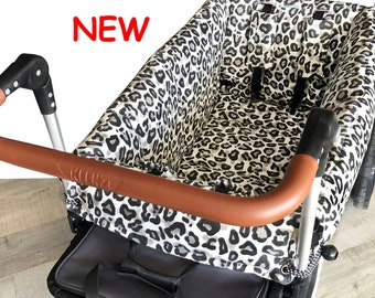 Gray Leopard Stroller Wagon Liner For Keenz