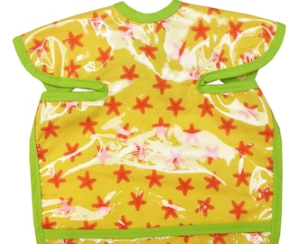 Tropical Starfish Apron Bib