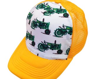 Tractors Yellow Trucker Hat-Youth Size
