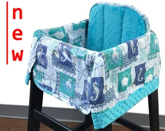 Sea Life High Chair Cover