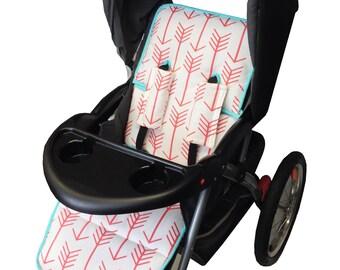 Coral Arrows Stroller Liner