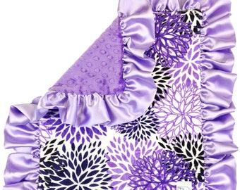 Purple Blooms Security Blanket