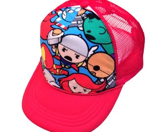 Avengers Red Trucker Hat- Youth Size