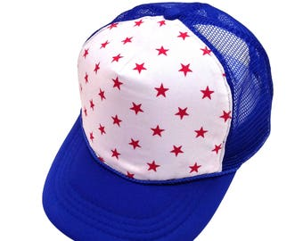 Red Stars Trucker Hat- Youth Size