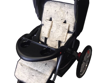 Air Flight Stroller Liner-Reversible to Gray Minky