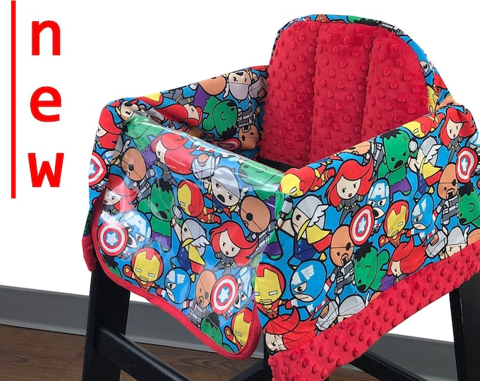 Featured listing image: Baby Avengers High Chair Cover