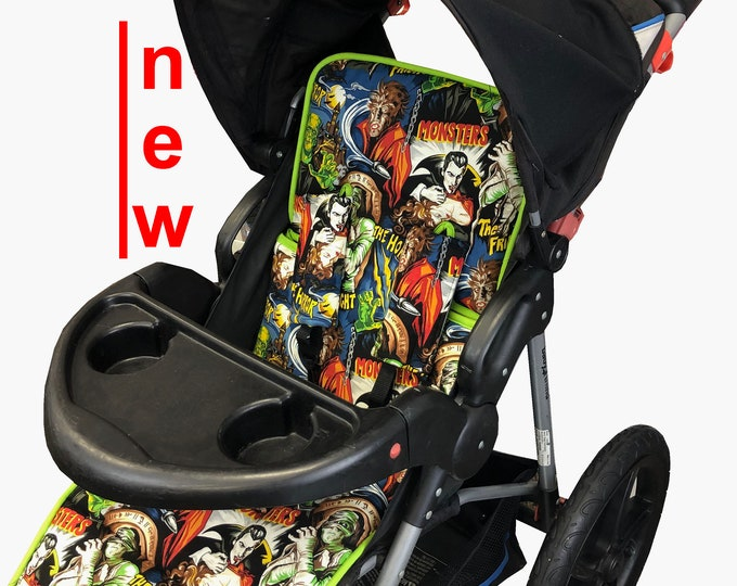 Featured listing image: Classic Monsters Stroller Liner