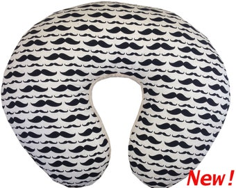 Mustache Boppy Pillow Cover