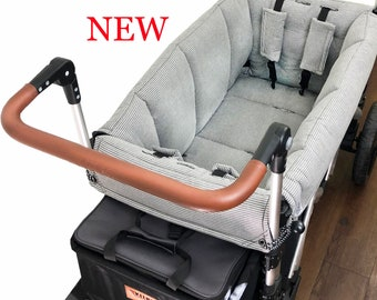 Gray Pinstripe Stroller Wagon Liner For Keenz