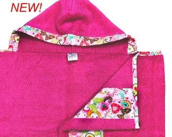 Butterfly and Hearts Hooded Towel