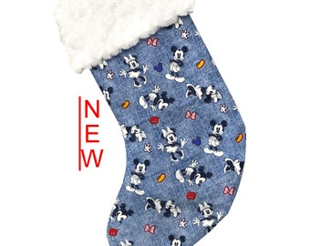 Mickey Denim Christmas Stocking