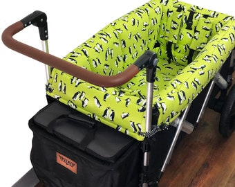 Lime Penguin Stroller Wagon Liner for Keenz