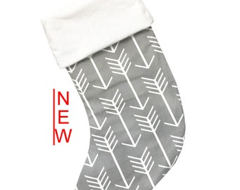 Gray Arrows Christmas Stocking