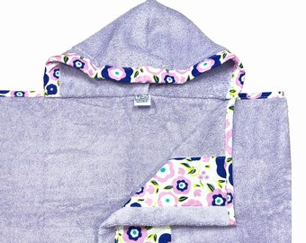 Purple Mod Hooded Towel