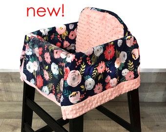 Twigs and Flowers High Chair Cover