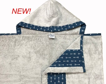 Navy Arrows Hooded Towel