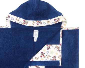 American Cowboy Navy Hooded Towel