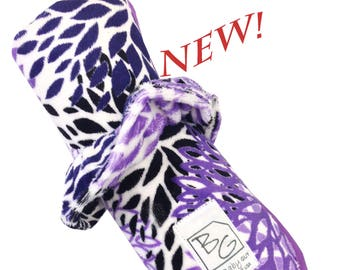Purple Blooms Roll N Go Changing Pad