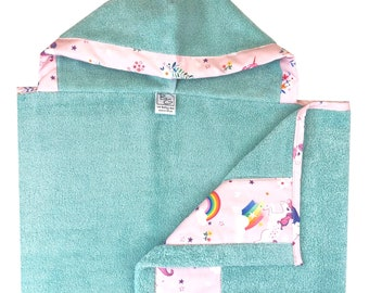 Unicorn and Rainbows Hooded Towel
