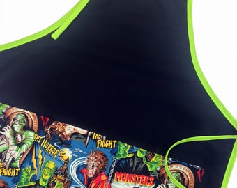 Classic Monsters Adult Apron