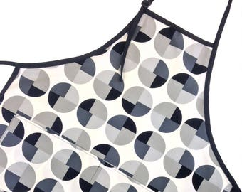 Gray Geometric Adult Apron