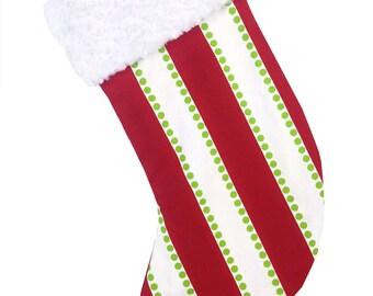 Candy Stripe Christmas Stocking