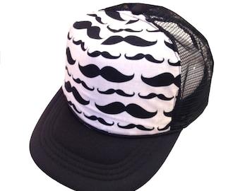 Mustache Trucker Hat-Youth Size