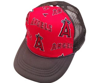 Angels Gray Trucker Hat- Youth Size