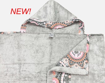 Peach Paisley Hooded Towel