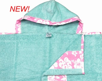Pink Hibiscus Hooded Towel