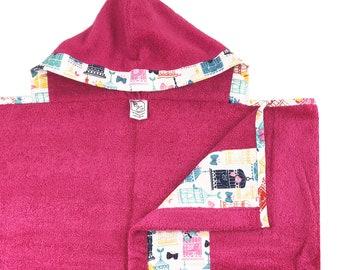 Birdcage Hooded Towel Hot Pink