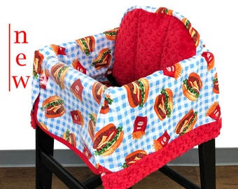 Hamburger and Fries High Chair Cover