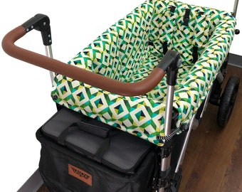 Green Geometric Stroller Wagon Liner for Keenz