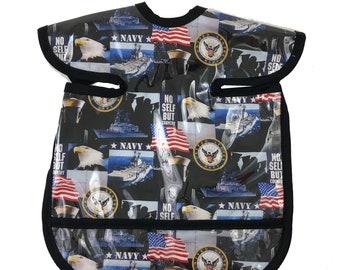 Navy Apron Bib