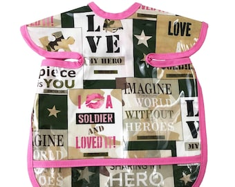Girl Military Apron Bib