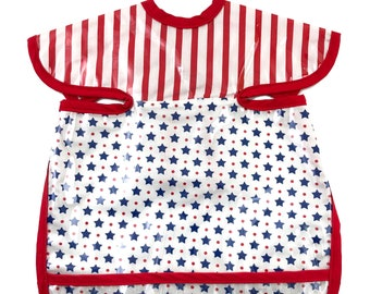 Stars and Stripes Deluxe Apron Bib