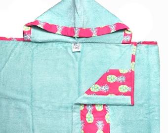 Pineapples Hooded Towel