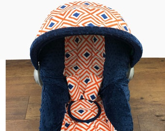 Geo Orange Infant Car Seat Cover