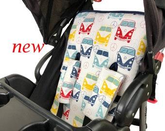 Love Bug Stroller Liner - Reversible Stroller Pad