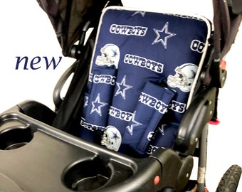 Cowboys Stroller Liner - Reversible Stroller Pad