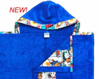 Paw Patrol Hooded Towel Comic Blue