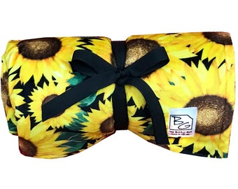 Sunflowers Back 2 Basics Stroller Blanket