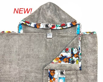 Paw Patrol Hooded Towel Gray