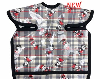 Mickey and Minnie Burberry Deluxe Apron Bib