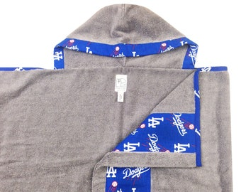 Dodgers Hooded Towel Gray