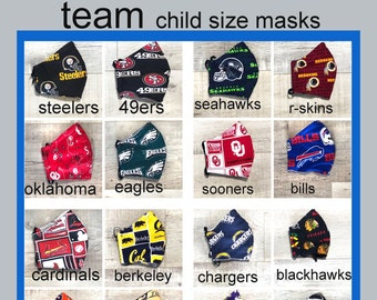 TREAM Child Face Mask- Cotton Face Mask - Mask With Filter Pocket - Washable Mask -   3 Fabric Layers -  Proudly Made In USA!