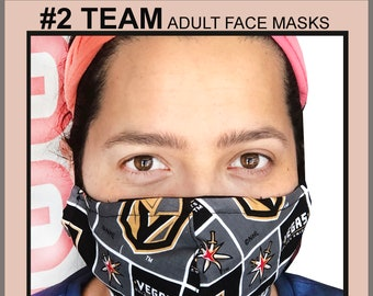 TEAM#2 Adult Face Mask - Cotton Face Mask - Mask With Filter Pocket - Washable Mask -  3 Fabric Layers -  Proudly Made In USA!