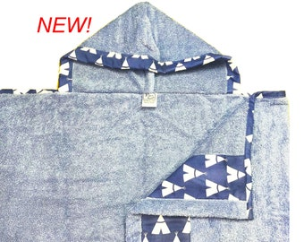 Blue Teepee Hooded Towel