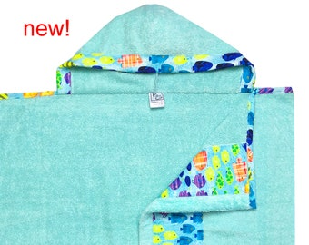 Freshwater Fish Hooded Towel